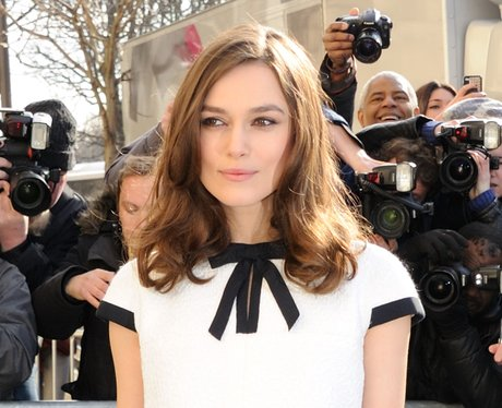 Keira Knightley in black and white Chanel