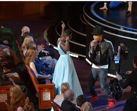 Lupita Nyong'o and Pharrell Williams Oscars 2014