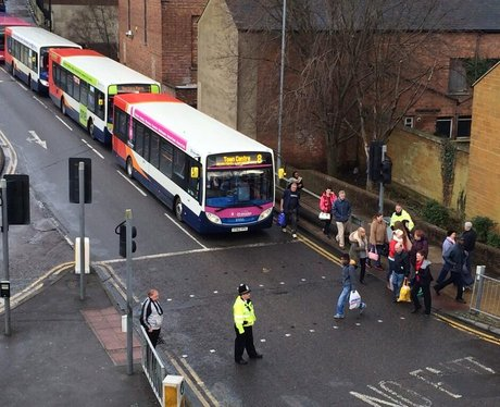 Northampton Bus Station Chaos