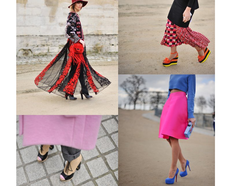 stylish women at paris fashion week 2014