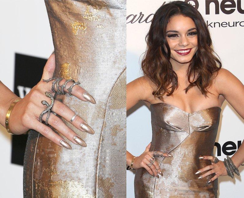 Selena Gomez in a silver dress