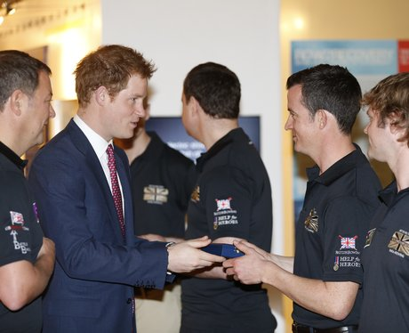 Prince Harry meets the Row2Recovery Team