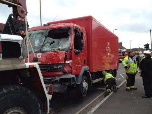 Gosport Royal Mail lorry crash