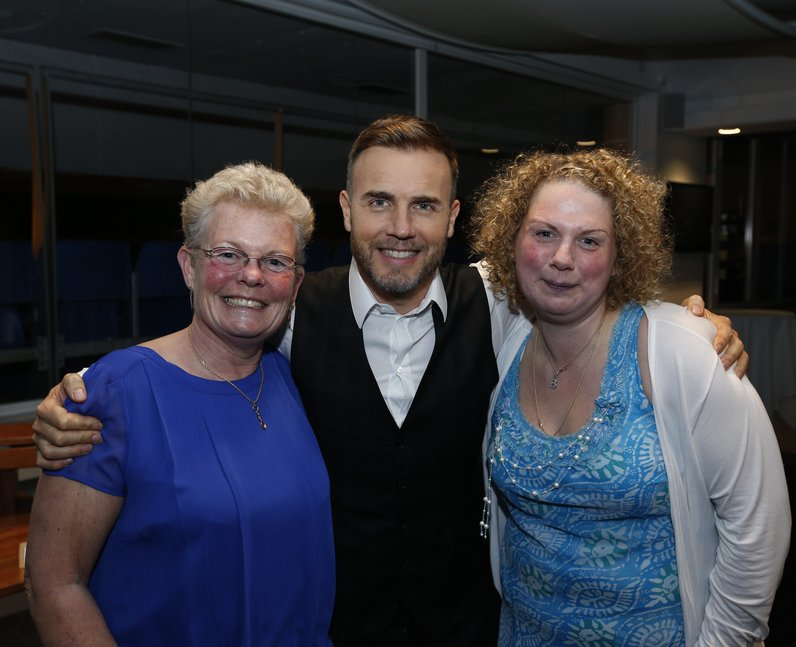 Beverley Overton and her mother Anne with Gary