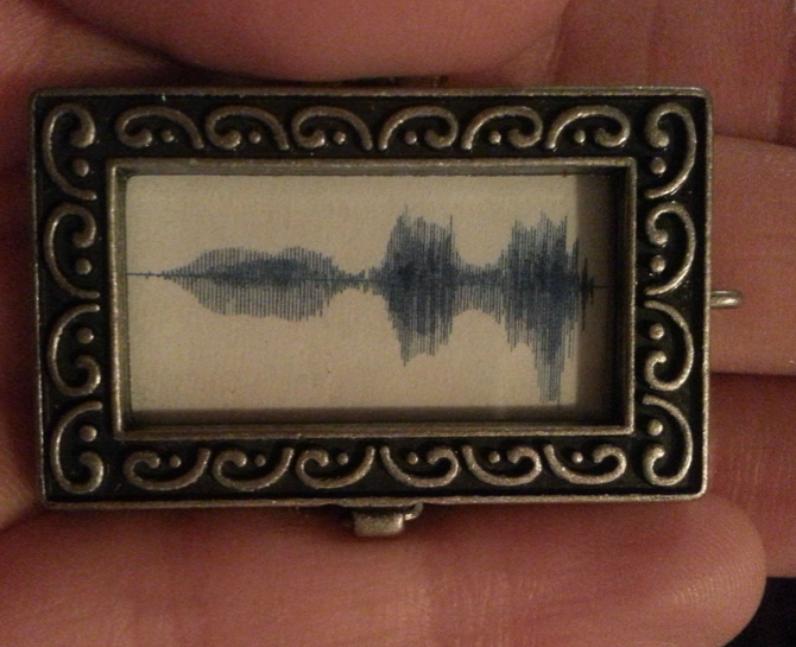 A soundwave in a locket