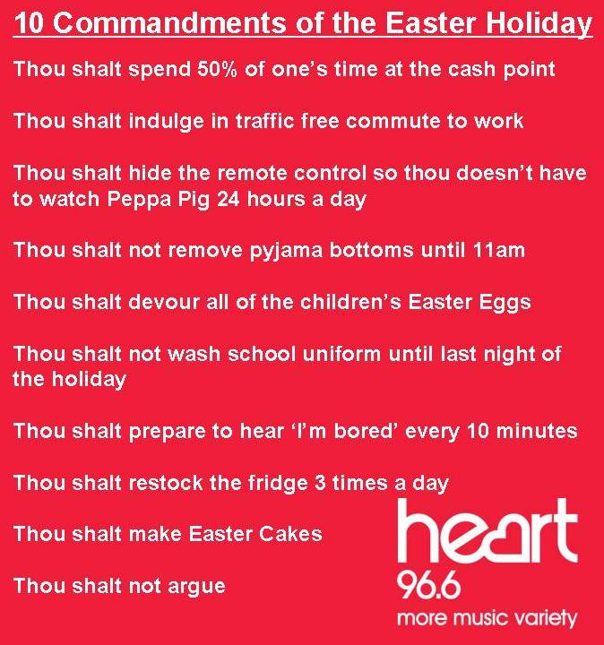 10 Commandments of the Easter Holiday