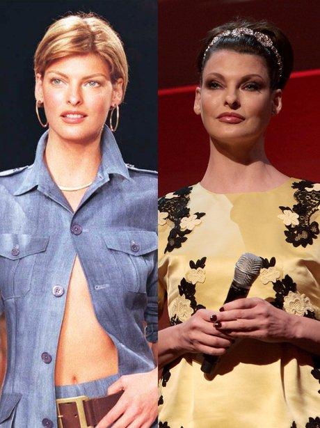 Linda Evangelista then and now