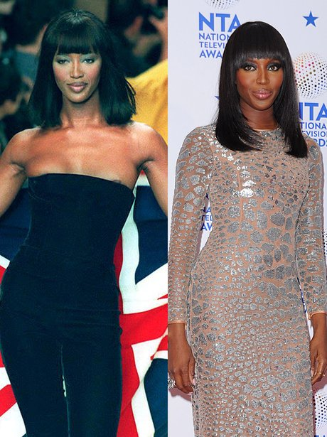 naomi campbell then and now