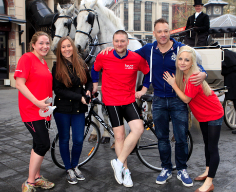 Team Heart Arrive In Leicester Square After Making It In