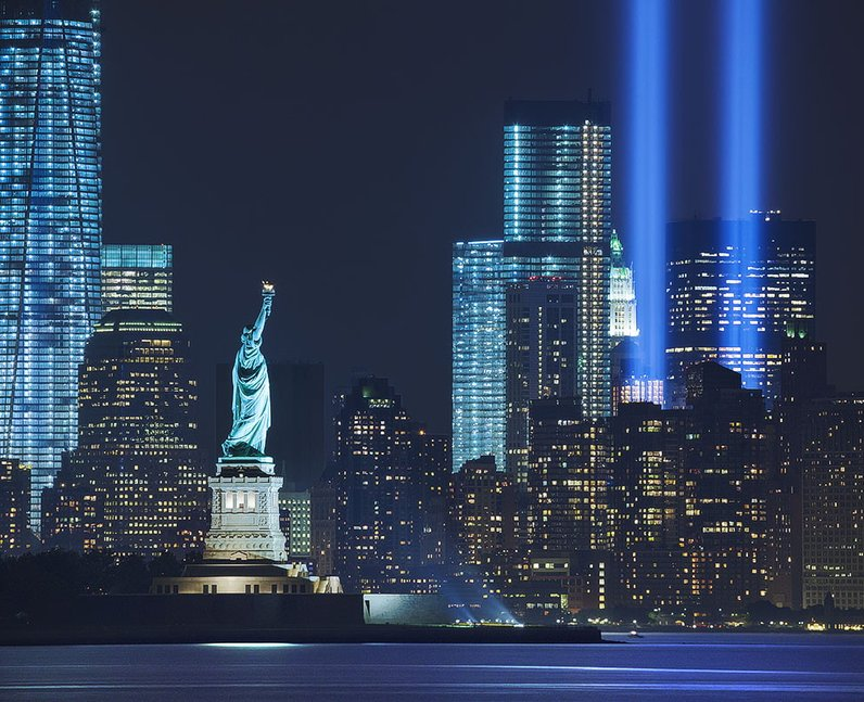 The Statue of Liberty's 9/11 tribute