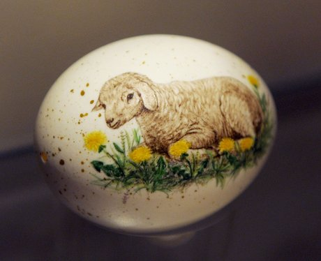 A painted Easter egg