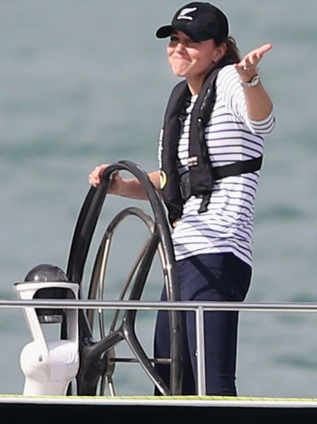 The Duchess Of Cambridge on a boat