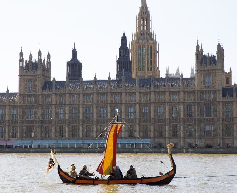 viking boat on the thames