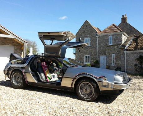 DeLorean side view
