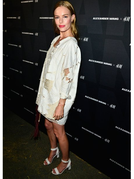 Kate Bosworth in white sandals