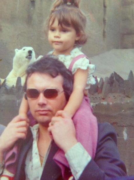 Victoria Beckham with her dad