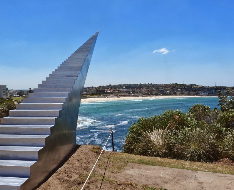 stairs sculpture in bondi beach