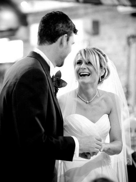 Debbie Mac's wedding day
