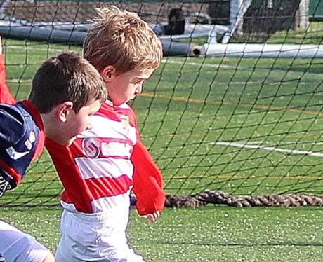 justin's son alfie playing football