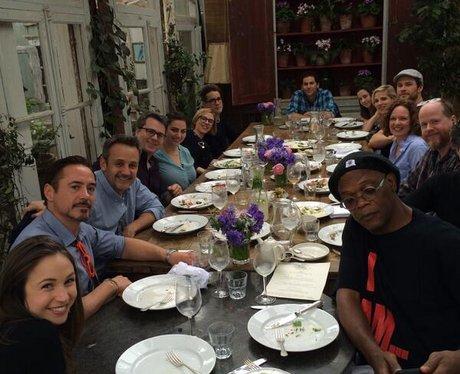 Robert Downey Jr and friends dinner