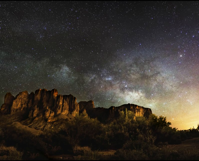 The night sky in the desert