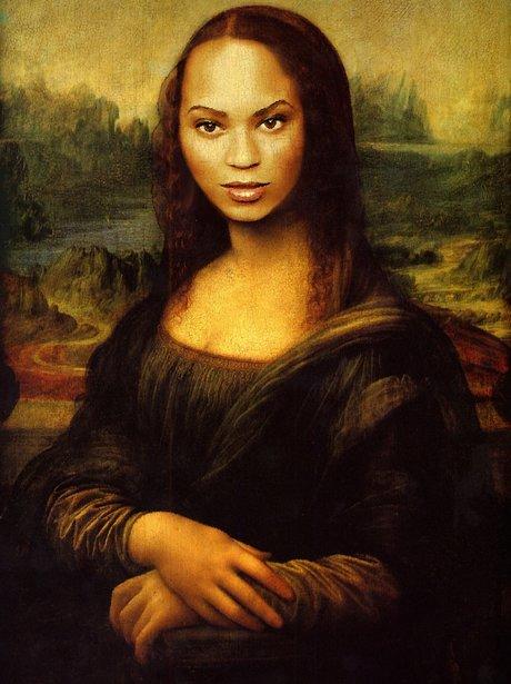 Beyoncé Knowles as the Mona Lisa