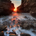 Image 3: Sunset between two cliffs