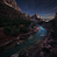 Image 9: Mountains at night time