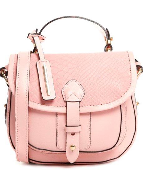Asos pastel pink satchel bag