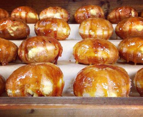 beautiful glazed doughnuts