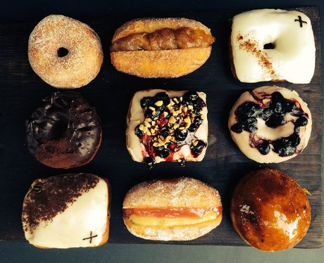 a beautiful selection of doughnuts