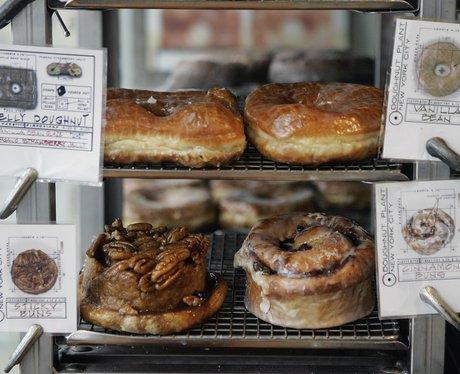 doughnuts on display