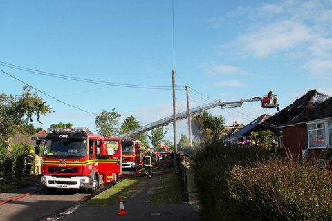 Holbury New Forest fire