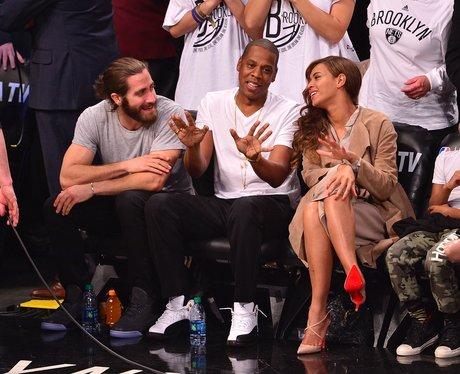 Jake Gyllenhaal, Jay-Z and Beyonce