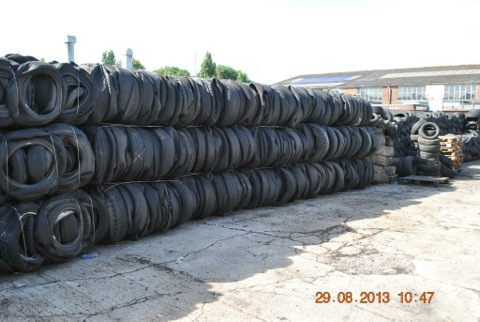 Portsmouth waste tyres