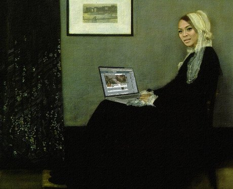Beyoncé Knowles is dressed as Whistler's Mothers