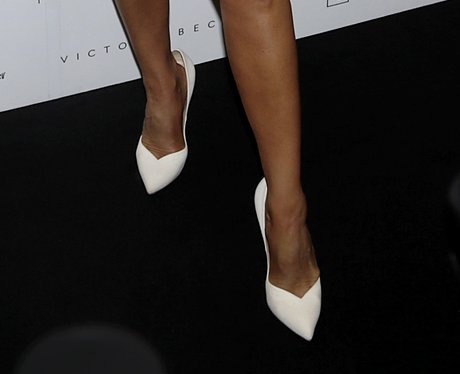Victoria Beckham's white shoes
