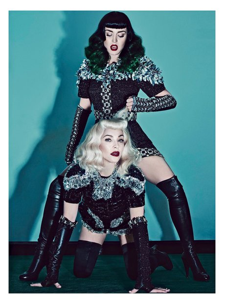 Katy Perry and Madonna V Magazine 2014