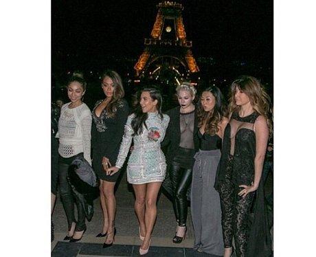 kim kardashian and friends in paris