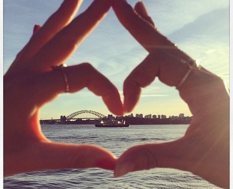 Heart shape hands in Australia