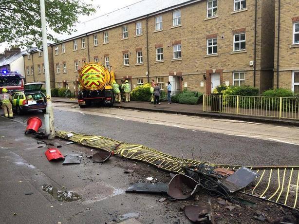 lorry Berkhamsted flat crashes