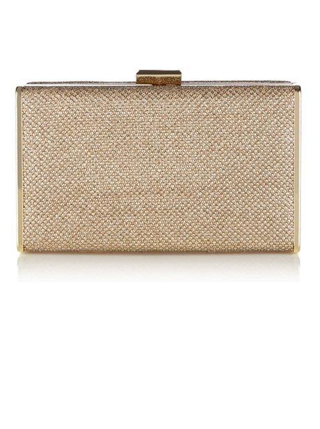 Oasis Gold Clutch Bag