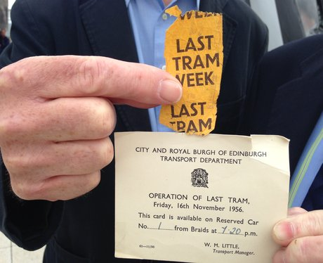 Tickets from the last Edniburgh tram in 1956