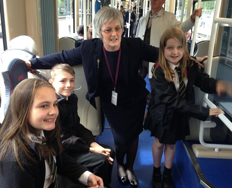 Schoolchildren & Edinburgh Council Boss Sue Bruce