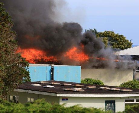 Arson suspected at derelict campsite