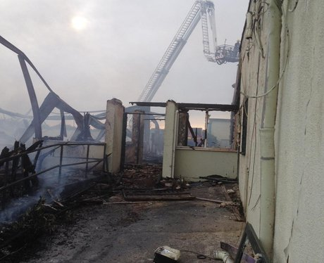 Arson suspected at derelict campsite