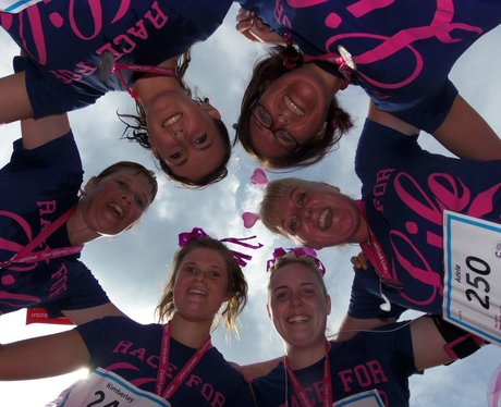 Heart Angels: Race for Life Reading 10k Finish Lin
