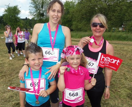 Heart Angels; Reading Race for Life 5K Finish Line