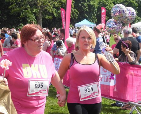 Race For Life Stockport! High 5!