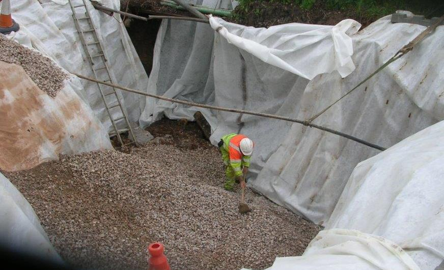 Sinkhole in Somerset being repaired